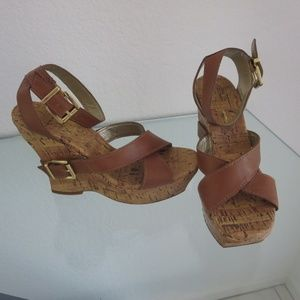 Jessica Simpson Bologna Platform Wedge Sandals 6.5